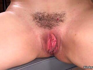 Hot ass hairy Milf fucking machine