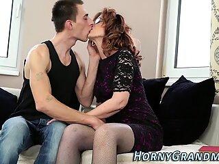 Stockings granny sucking