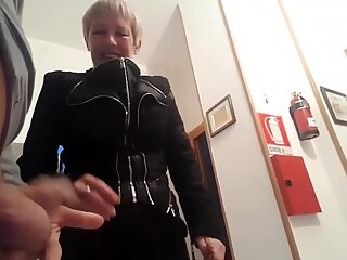Dickflash to one horny ugly granny