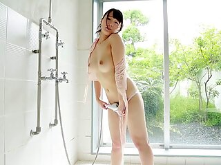 JAV Star Nozomi Chihaya Striptease in Shower Showing Hairy Pussy