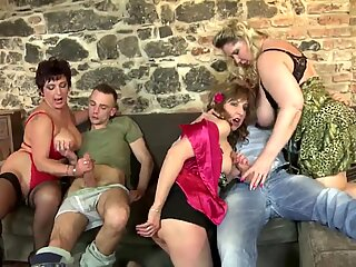 Mature mothers drill youthfull studs like crazy