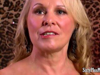 Watch sexy sixty plus MILFs sucking balls dry
