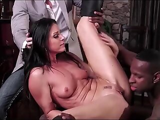 Hot wife India Summer climaxing on a black cock