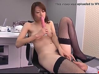 Maki Hojo amazing scenes of dazzling porn at the office  - More at Japanesemamas com
