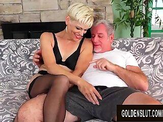 Smoking Hot Blonde Mature Erica Ryko Deepthroats and Rides