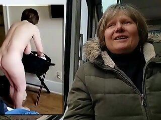 Public vs Private naked GILF