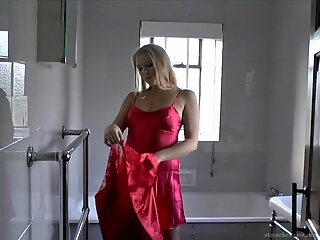 Mature Blonde Takes Off Clothes