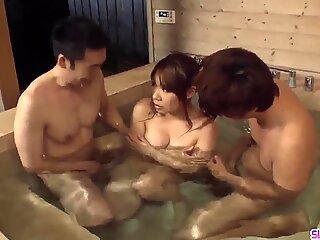 Iroha Suzumura deals two big dick - More at Slurpjp com