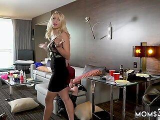 Horny Step Mom Gets Slammed