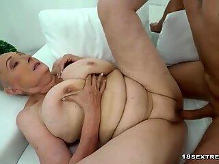 Horny Granny Fucks Hard