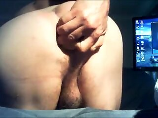 Beads n Butplug Ejected from Ass and Cock Juice 10.4.15