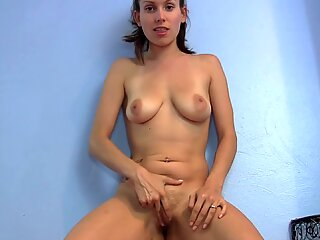 Amateur girl strips, spreads pussy and puckers asshole