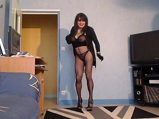 sexy milf en collant noir