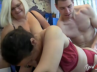 AgedLovE Lacey Starr Eva and Marcus Threesome