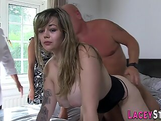 Busty gran and brit babes ride big cock
