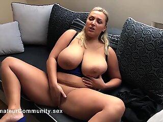 Hugetits beauty filmed on homemade video